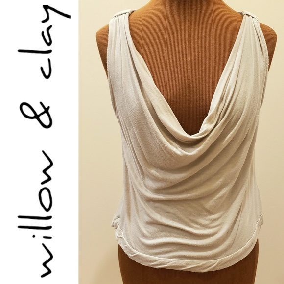 Willow & Clay Tops - WILLOW & CLAY Cowl Neck Sleveless Shirt